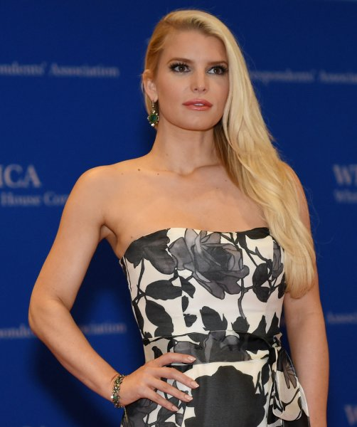 Jessica Simpson arrives on the red carpet at the White House Correspondents' Association Dinner at the Washington Hilton in Washington, D.C., on May 3, 2014. She turns 40 on July 10. File Photo by Molly Riley/UPI