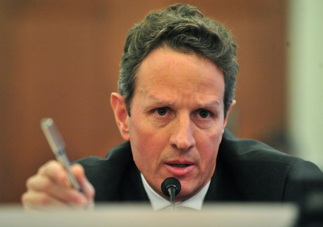 Treasury Secretary Tim Geithner testifies before a Joint Economic Committee Hearing on financial regulatory reform in Washington on November 19, 2009. UPI/Kevin Dietsch