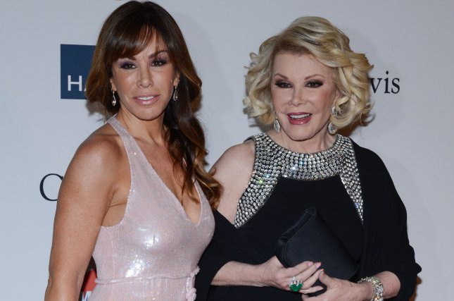 Melissa Rivers, left, filed a malpractice lawsuit against the New York clinic and doctors she accuses of being negligent during a procedure that led to her mother's death. File photo by Jim Ruymen/UPI.