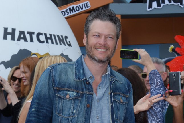 Blake Shelton attends the premiere of the The Angry Birds Movie on May 7, 2016. Shelton has joined NBC's Red Nose Day special along with Bono, Celine Dion and more. File Photo by Jim Ruymen/UPI