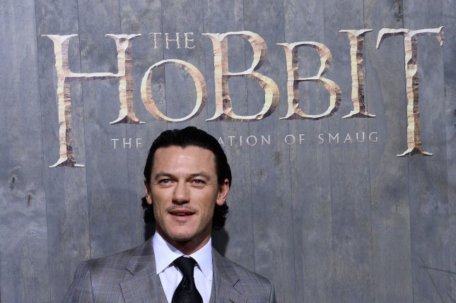 Luke Evans attends the premiere of The Hobbit: The Desolation of Smaug at TCL Chinese Theatre in Los Angeles on December 2, 2013. The film is adapted from the writings of J.R.R. Tolkien, who's story Beren and Luthien is set tp be published for the first time next year -- 100 years after it was written. File Photo by Jim Ruymen/UPI