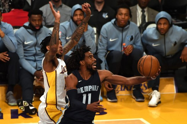 Mike Conley (11) has been with the Memphis Grizzlies since 2007. File Photo by Jon SooHoo/UPI