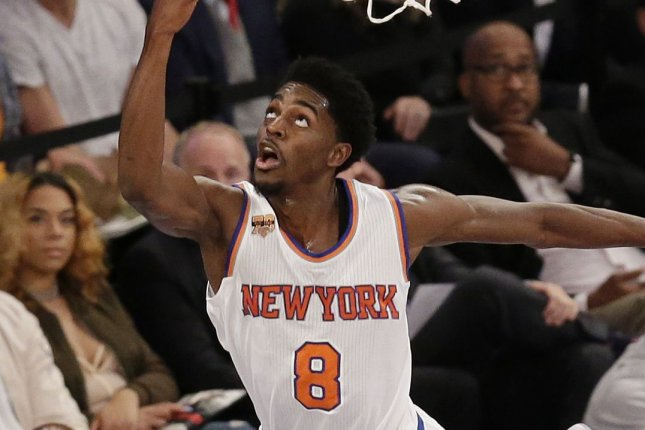 Former New York Knicks guard Justin Holiday has averaged 8.1 points since entering the NBA in 2012. FIle Photo by John Angelillo/UPI