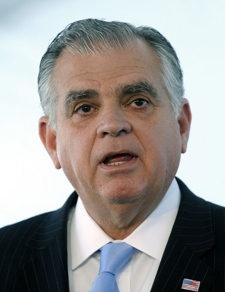 U.S. Transportation Secretary Ray LaHood said the Obama administration would reconsider a goal to push automakers to a 56.2 mile per gallon average by 2025. UPI/Roger L. Wollenberg