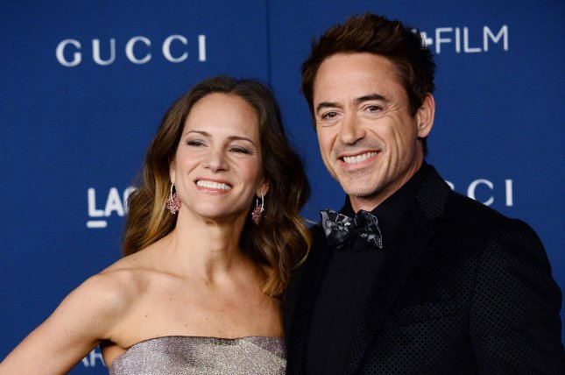 Actor Robert Downey Jr. and his wife Susan arrive. UPI/Jim Ruymen