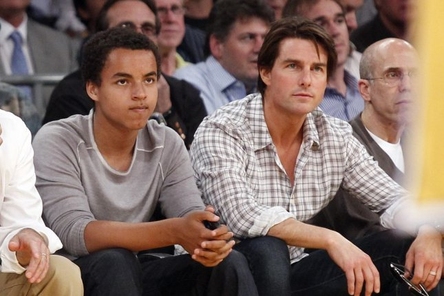 Connor Cruise with his dad, Tom Cruise in 2010. UPI Photo/Lori Shepler