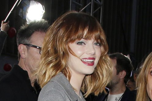 Emma Stone arrives on the red carpet at The Amazing Spider-Man 2 premiere at the Ziegfeld Theater in New York City on April 24, 2014. UPI/John Angelillo