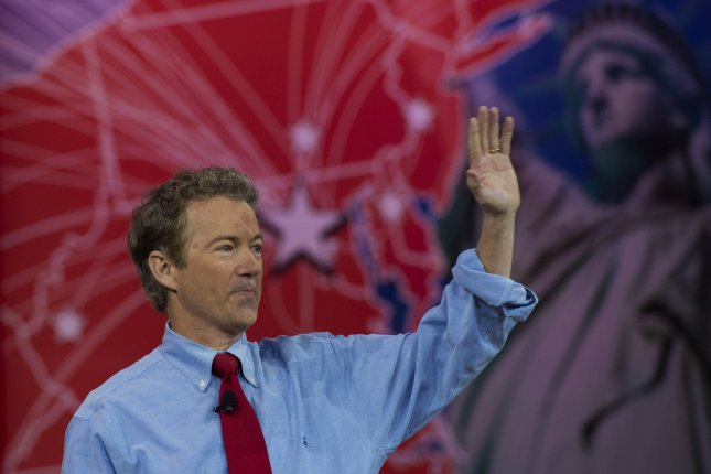 Sen. Rand Paul, R-Ky., speaks at the Conservative Political Action Conference (CPAC) in National Harbor, Maryland, February 27, 2015. Photo by Molly Riley/UPI