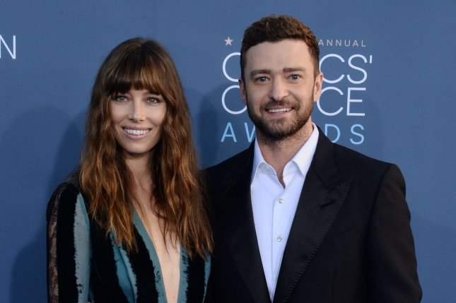 Jessica Biel (L) and Justin Timberlake at the Critics' Choice Awards on December 11, 2016. File Photo by Jim Ruymen/UPI