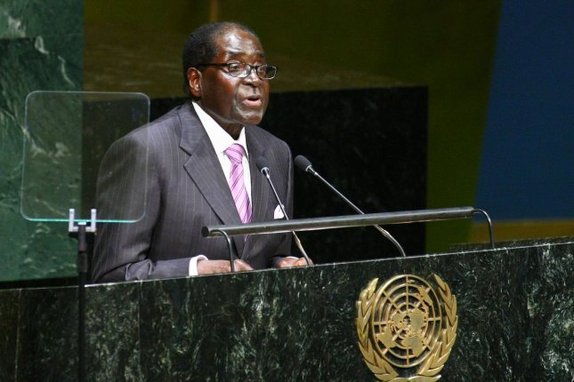Robert Mugabe, president of Zimbabwe, addressing the United Nations General Assembly in 2014, has been named as a goodwill ambassador for the World Health Organization. File photo by Monika Graff/UPI