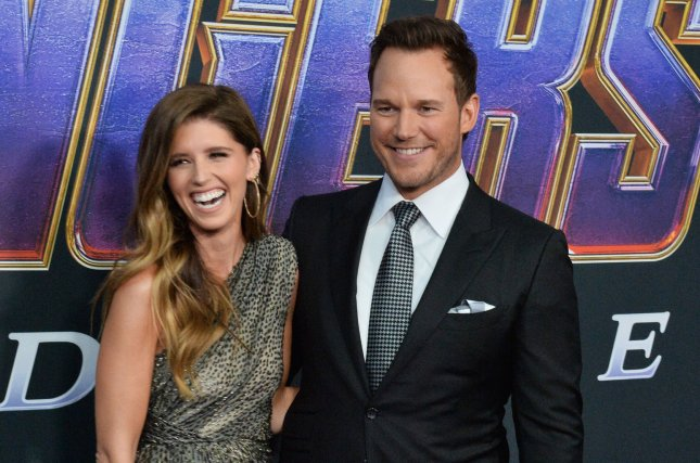 Chris Pratt (R) and his fiancee Katherine Schwarzenegger attend the premiere of Avengers: Endgame on April 22. The event was the couple's red carpet debut. File Photo by Jim Ruymen/UPI