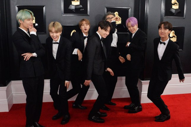 BTS' Boy With Luv topped 200 million views on Wednesday. File Photo by Jim Ruymen/UPI