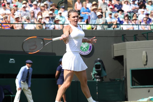 Romania's Simona Halep is the defending French Open champion. File Photo by Hugo Philpott/UPI
