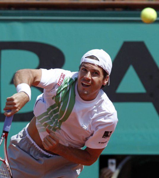 Tommy Haas, shown in a 2009 file photo, collected an upset victory Tuesday in first-round play of the Erste Bank Open in Vienna, Austria. (UPI Photo/ David Silpa)