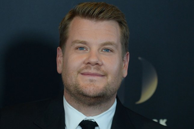 Television talk show host James Corden will soon be heard in the animated/live-action hybrid Peter Rabbit. File Photo by Jim Ruymen/UPI