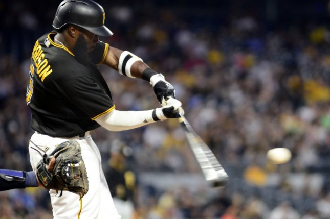 Former Pittsburgh Pirates second baseman Josh Harrison (5) agreed to a one-year contract with the Detroit Tigers Wednesday. File Photo by Archie Carpenter/UPI