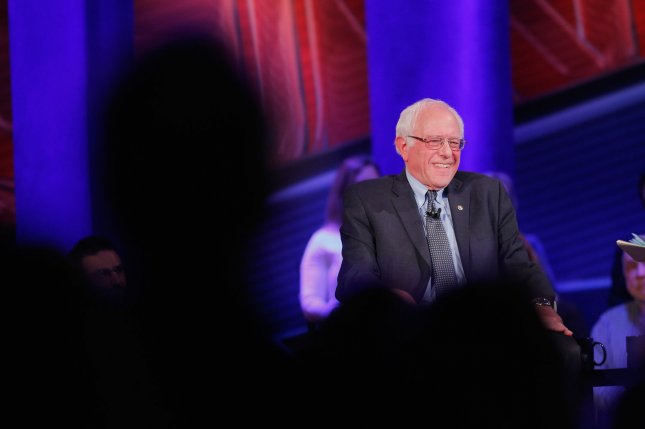 Democratic presidential candidate Bernie Sanders participated in a town hall event Monday night. File Photo by Justin Sullivan/UPI