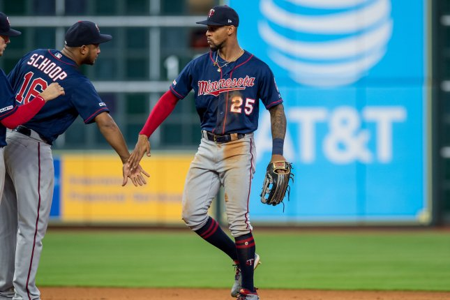 Minnesota Twins center fielder Byron Buxton (25) is batting .262 with 10 home runs and 46 RBIs this season. File Photo by Trask Smith/UPI