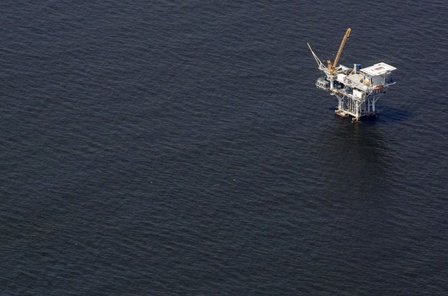 Australian company Otto Energy said it ran through columns of oil while drilling in the Gulf of Mexico, adding the prospect is low cost and has a high probability of success. File photo by A.J. Sisco/UPI
