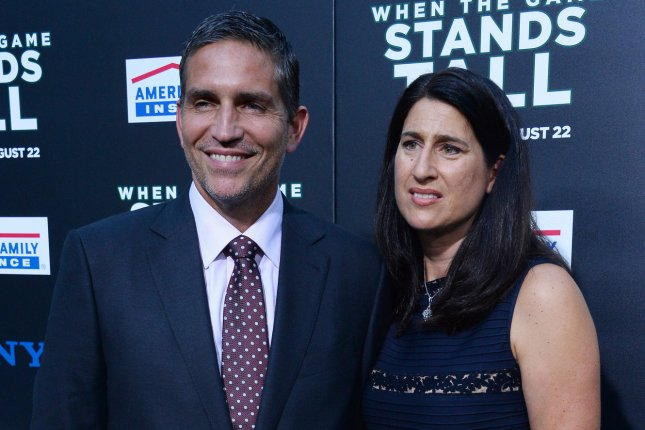 Jim Caviezel, pictured here with his wife Kerri Browitt Caviezel, may potentially portray Jesus Christ once again in a sequel to Passion of the Christ from Mel Gibson. File Photo by Jim Ruymen/UPI