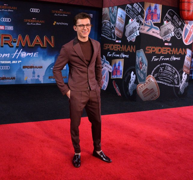 Cast member Tom Holland attends the premiere of Spider-Man: Far From Home in Los Angeles on June 26. Photo by Jim Ruymen/UPI