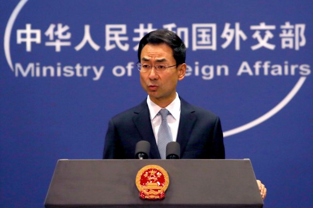 Chinese Foreign Ministry spokesman Geng Shuang has repeatedly accused other countries who have commented on the ongoing protests in Hong Kong of meddling in the Asian country's business. Photo by Stephen Shaver/UPI