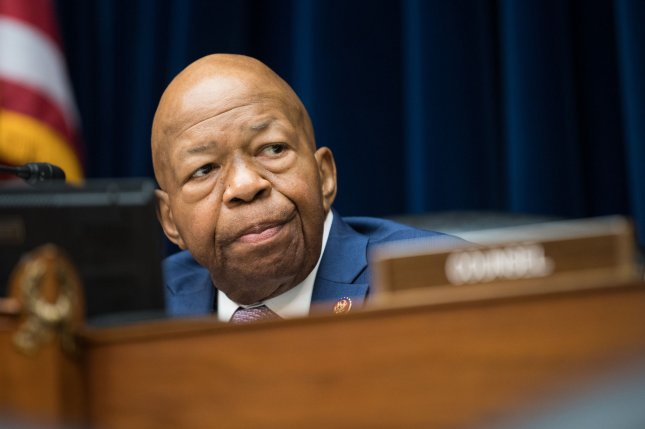 House oversight and reform committee Chairman Elijah Cummings died Thursday at age 68.  File Photo by Kevin Dietsch/UPI