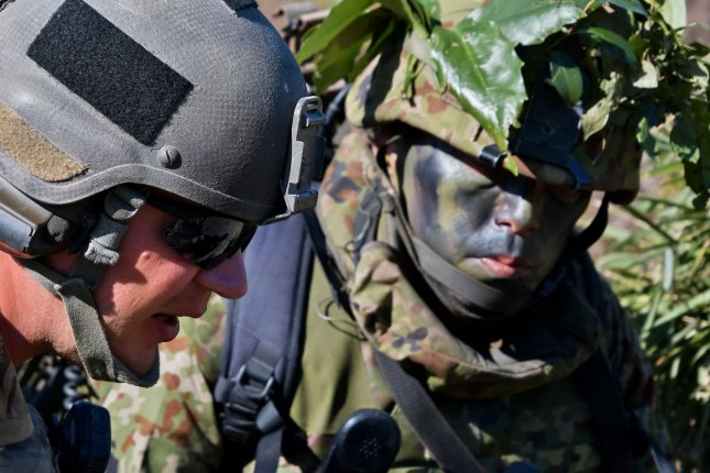 U.S. and Japanese troops take part in the reconnaissance and shooting training of the joint military exercise Orient Shield 2019 in Kumamoto, Japan in September. The two sides started an annual exercise on Monday. File Photo by Keizo Mori/UPI