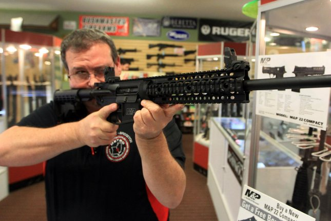 A three-judge panel has overturned a judge's decision earlier this month to overturn California's ban on assault weapons. File photo by Bill Greenblatt/UPI