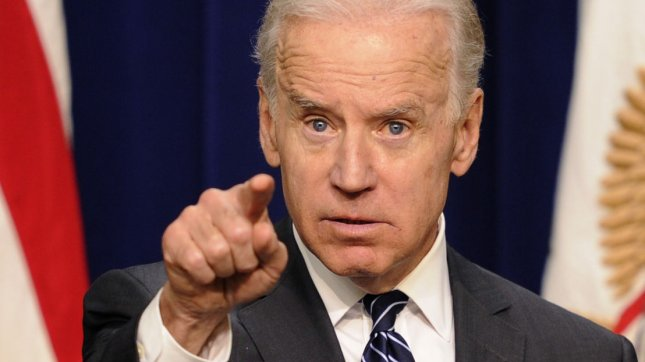 Vice President Joe Biden gestures as he urges Congress to pass stronger gun-control measures, during an event with law enforcement officers, April 9, 2013, in Washington, DC. Congress is expected to debate this week on gun safety legislation. UPI/Mike Theiler