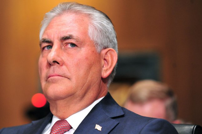 Exxon Mobil CEO and Chairman Rex Tillerson says his company has a consistent strategy in place to weather the downturn in energy markets. File photo by Kevin Dietsch/UPI