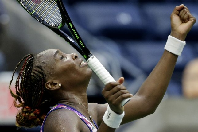 Venus Williams had to struggle, but advanced to the quarterfinals of BNP Paribas Open at Indian Wells, Calif., by beating Shuai Peng of China 3-6, 6-1, 6-3 in a fourth-round match Tuesday. File Photo by John Angelillo/UPI