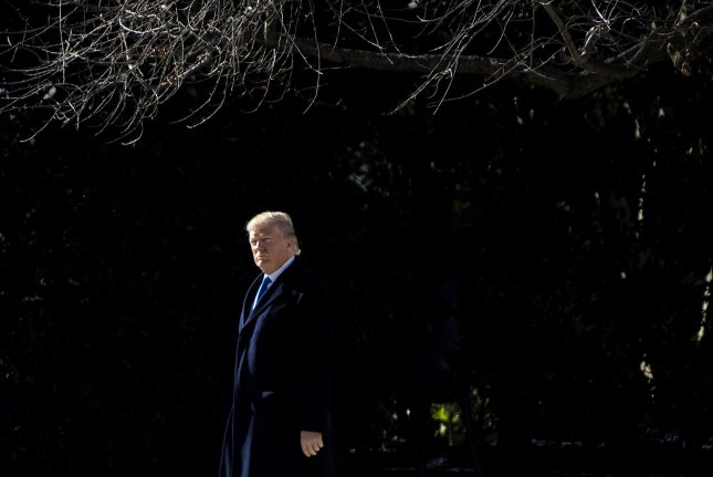 President Donald Trump departs the White House on January 5, 2018 for a weekend trip to Camp David where he will met with Republican leadership. Photo by Kevin Dietsch/UPI