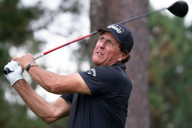 Phil Mickelson, who didn't play this weekend in the Arnold Palmer Invitational, dropped to No. 101 in the Official World Golf Ranking. File Photo by Kevin Dietsch/UPI