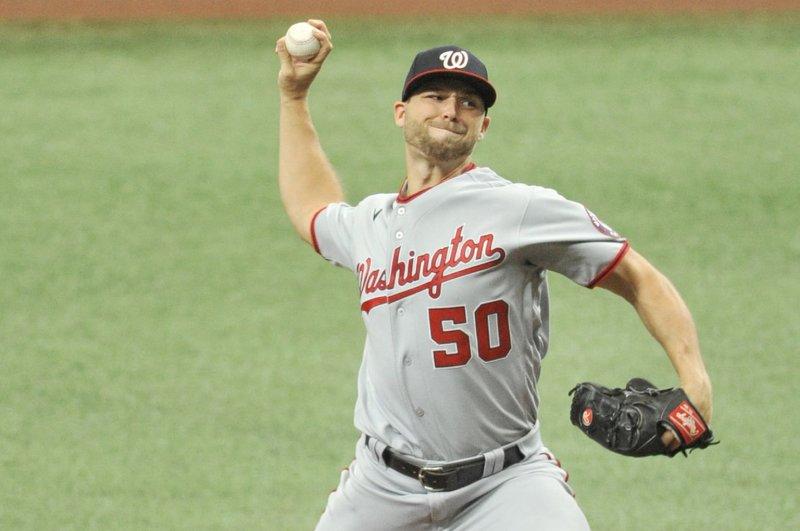 Washington Nationals pitcher Austin Voth, shown Sept. 16, 2020, has a 2-0 record and 2.73 ERA this season. File Photo by Steven J. Nesius/UPI
