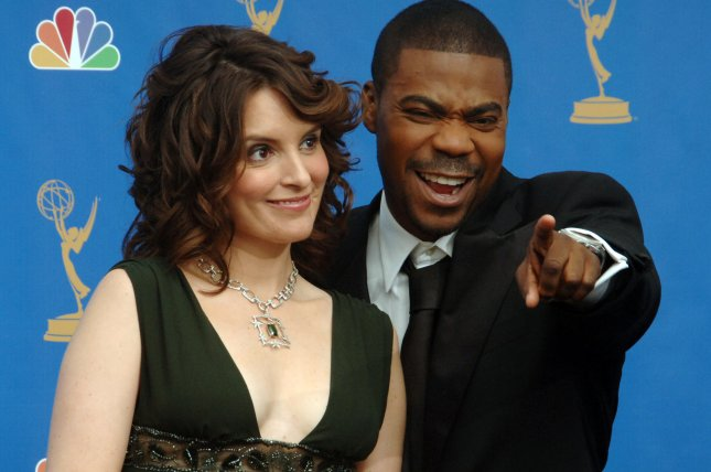 Presenters Tina Fey and Tracy Morgan appear backstage during the 58th Annual Primetime Emmy Awards at the Shrine Auditorium in Los Angeles, California on August 27, 2006. (UPI Photo/Jim Ruymen)