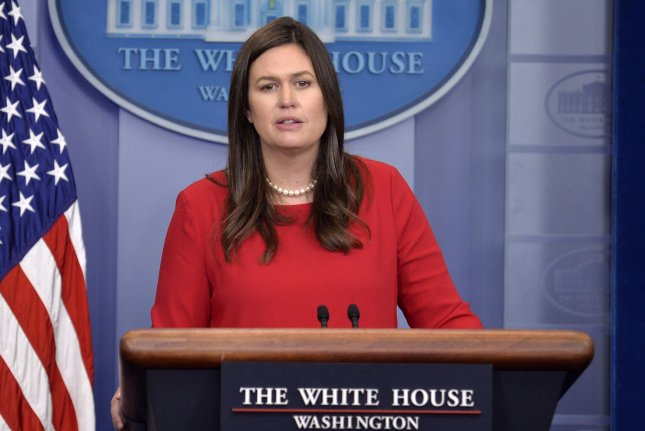 White House press secretary Sarah Huckabee Sanders responds to a question from a member of the press during the daily briefing Wednesday at the White House in Washington, D.C. The Trump administration is laying out new guidelines on immigration reform. Photo by Mike Theiler/UPI