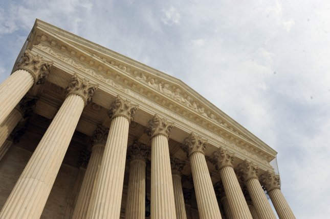 The Supreme Court building in Washington, DC. The Court has ruled unanimously that a warrant is required to place a GPS tracker onto a vehicle. UPI/Roger L. Wollenberg