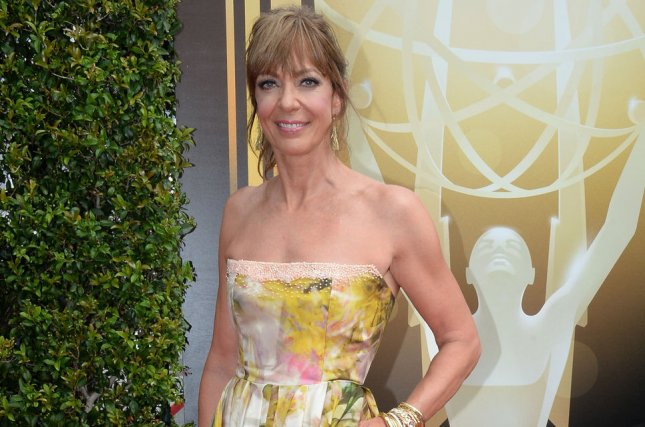 Actress Allison Janney attends the Creative Arts Emmy Awards at Microsoft Theater in Los Angeles on September 12, 2015. Photo by Jim Ruymen/UPI