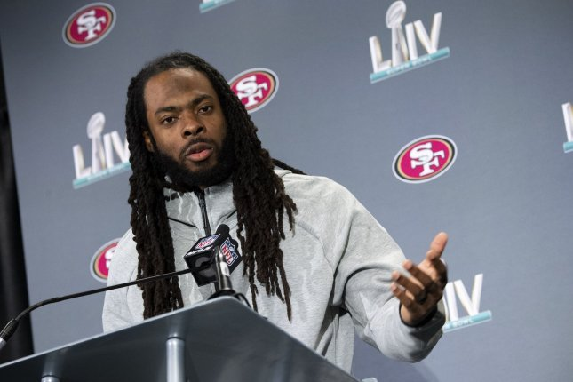 San Francisco 49ers cornerback Richard Sherman was one of the best coverage defenders in the NFL this season, resulting in a second-team All-Pro selection.  Photo by Kevin Dietsch/UPI