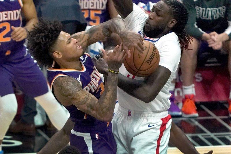 Former Phoenix Suns forward Kelly Oubre Jr. (L) averaged 18.7 points and 6.4 rebounds last season. File Photo by Jon SooHoo/UPI