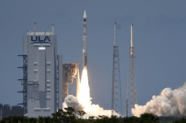 A United Launch Alliance Atlas V rocket launches the fifth Space Based Infrared System Geosynchronous Satellite (SBIRS GEO) for the U.S. Space Force from Cape Canaveral Space Force Station in Florida on Tuesday. Photo by Joe Marino/UPI