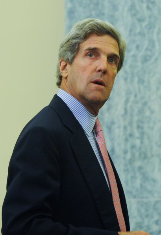 Sen. John Kerry leaves a Senate Commerce Committee hearing July 27, 2010. UPI/Alexis C. Glenn