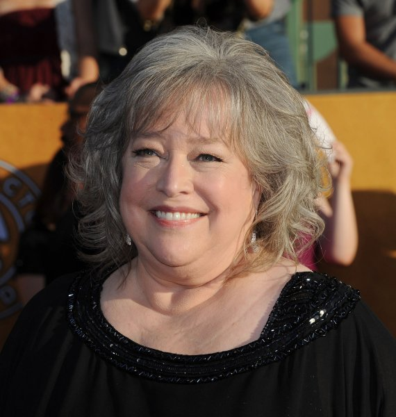 Actress Kathy Bates arrives at the 18th annual Screen Actors Guild Awards in Los Angeles on January 29, 2012. UPI/Jim Ruymen