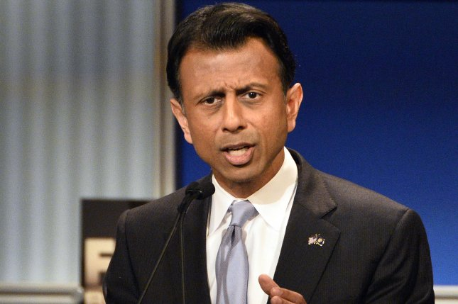 Republican presidential candidate Bobby Jindal formally departed the 2016 GOP race Tuesday, saying the timing wasn't right for him to become president. His departure leaves about a dozen major candidates in the field. Photo by Brian Kersey/UPI