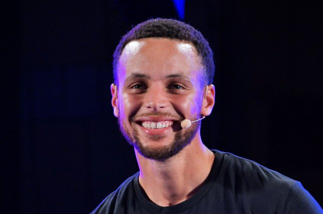 Golden State Warriors guard Stephen Curry attends an Under Armour event in Tokyo. Photo by Keizo Mori/UPI