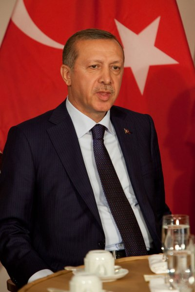 Turkish President Recep Tayyip Erdoğan said he will resign if Russian accusations, that his family is involved in oil sales with the Islamic State, are proven true File Photo by Allan Tannenbaum/UPI