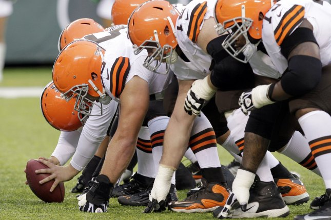 The Cleveland Browns strenghened their offensive line with the signing of Kevin Zeitler and Joel Bitonio. UPI /John Angelillo