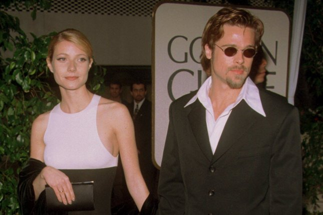 Gwyneth Paltrow (L) and Brad Pitt attend the Golden Globe Awards in 1996. Paltrow says Pitt confronted Harvey Weinstein after the producer harassed her. File Photo by Jim Ruymen/UPI