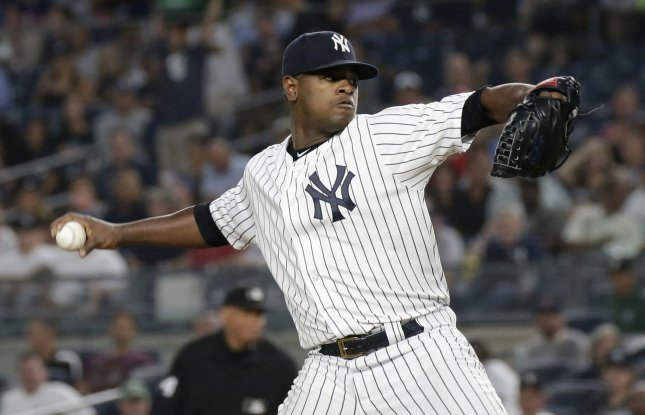 Luis Severino and the New York Yankees take on the Tampa Bay Rays on Tuesday. Photo by John Angelillo/UPI